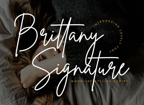 Brittany Signature Script Free Font