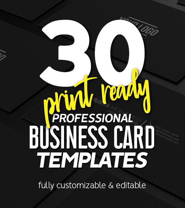 Professional Business Card Templates (30 Print Design)