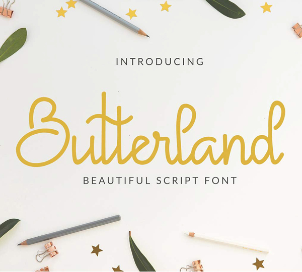 Butterland Script Free Font