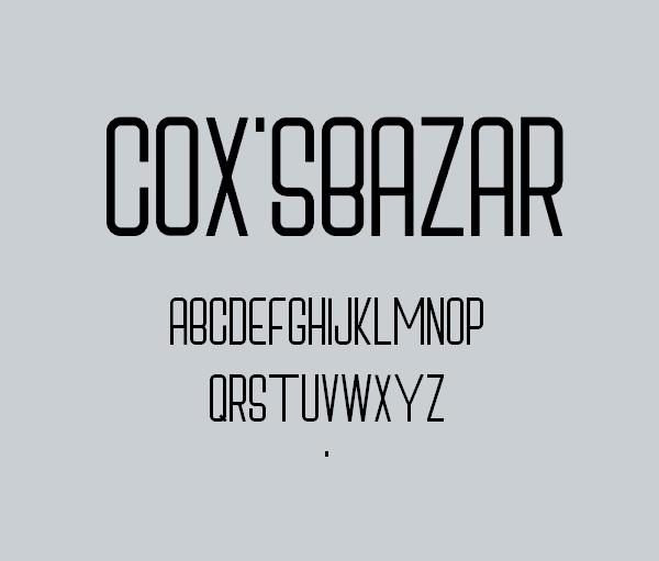 Coxs Bazar Font Letters