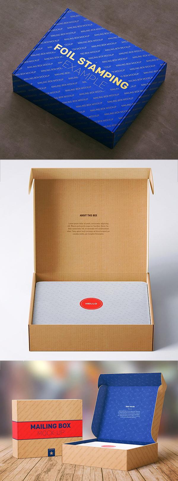 Mailing Box Packaging Mockup