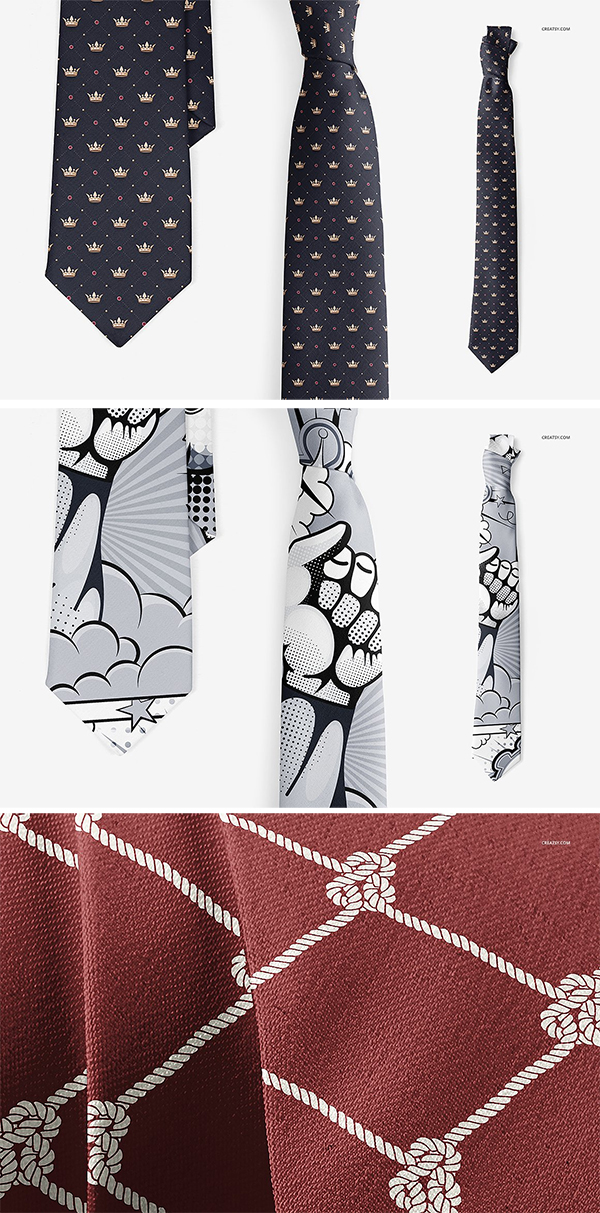 Neck Tie Mockup Set