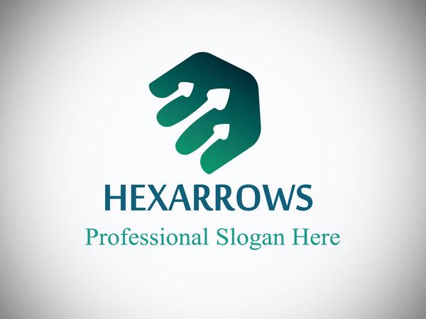 Hexaarrow Logo Design