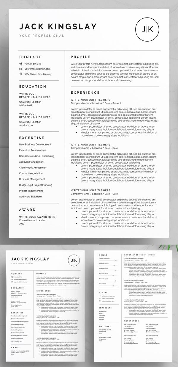 Clean & Professional Resume / CV