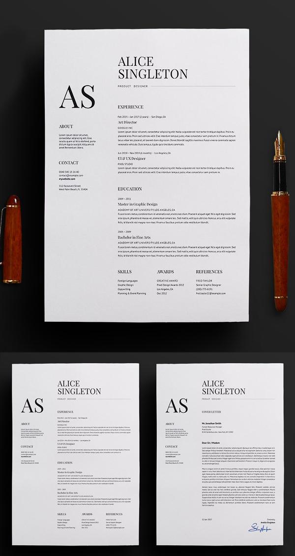 Elegant Resume / CV and Cover Letter