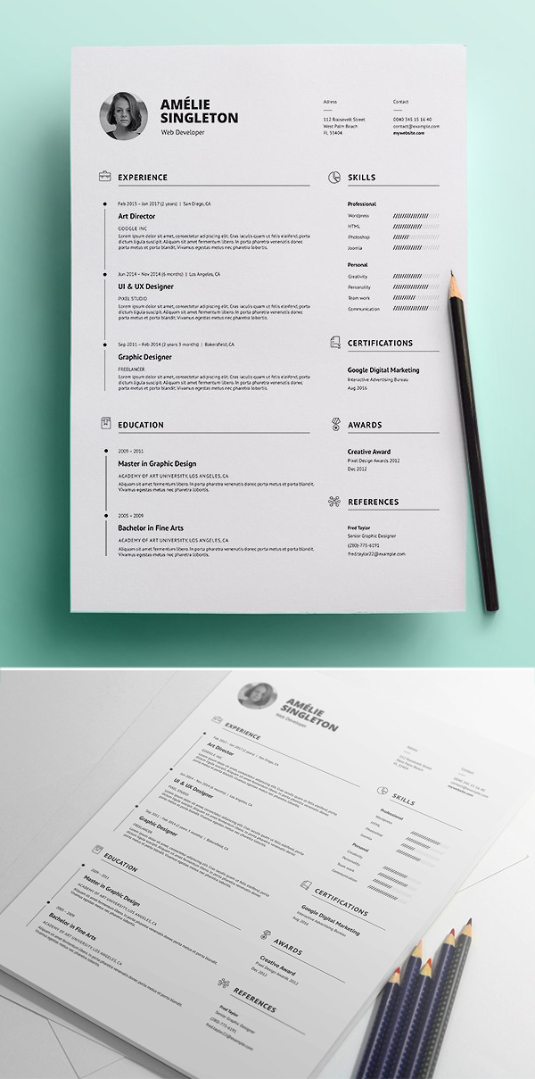Professional Resume / CV and Cover Letter