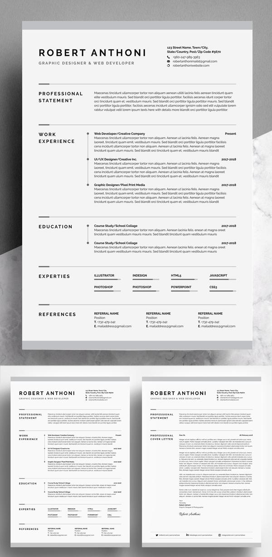 Awesome & Creative Resume / CV Template