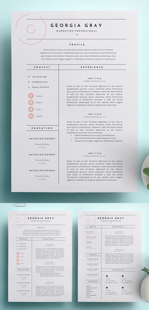 High Quality Resume Template
