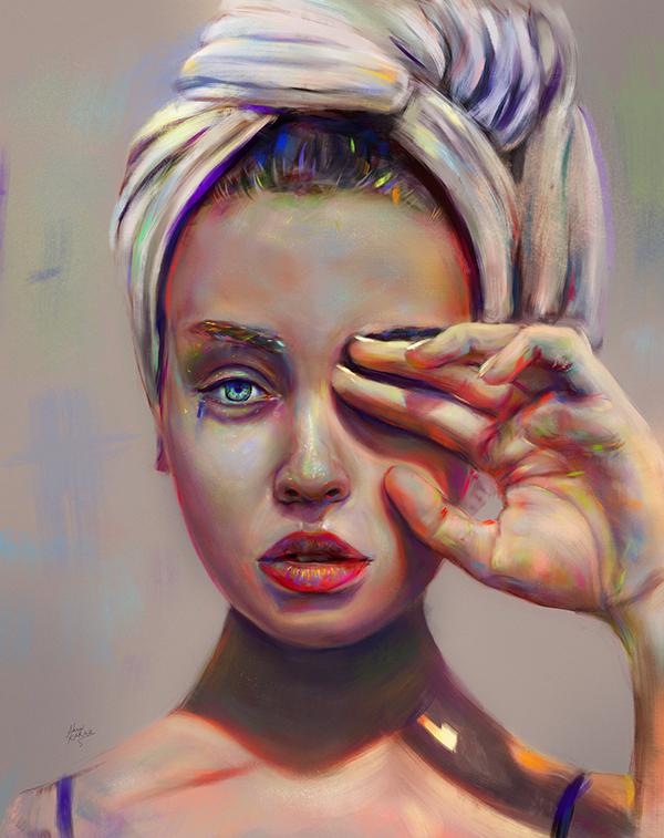 Amazing Digital Illustration Portrait Paintings by Ahmed Karam - 1
