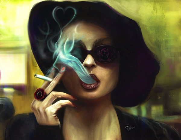 Amazing Digital Illustration Portrait Paintings by Ahmed Karam - 11
