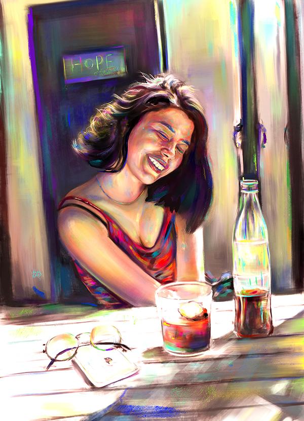 Amazing Digital Illustration Portrait Paintings by Ahmed Karam - 12