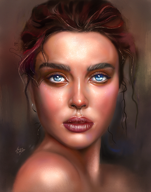 Amazing Digital Illustration Portrait Paintings by Ahmed Karam - 2