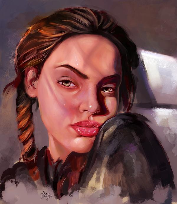 Amazing Digital Illustration Portrait Paintings by Ahmed Karam - 5