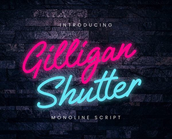 Gilligan Shutter Free Font