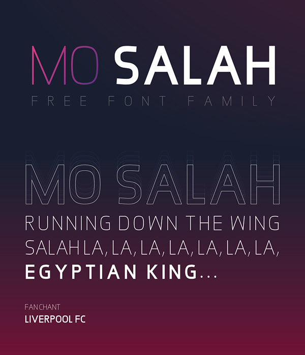 MO SALAH Free Font