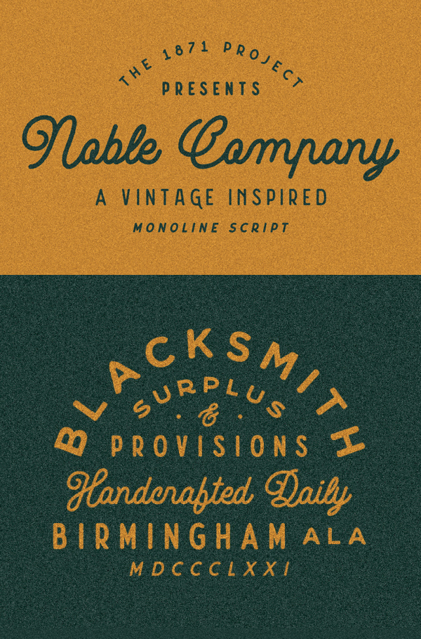 Noble Company Vintage Font Free Download