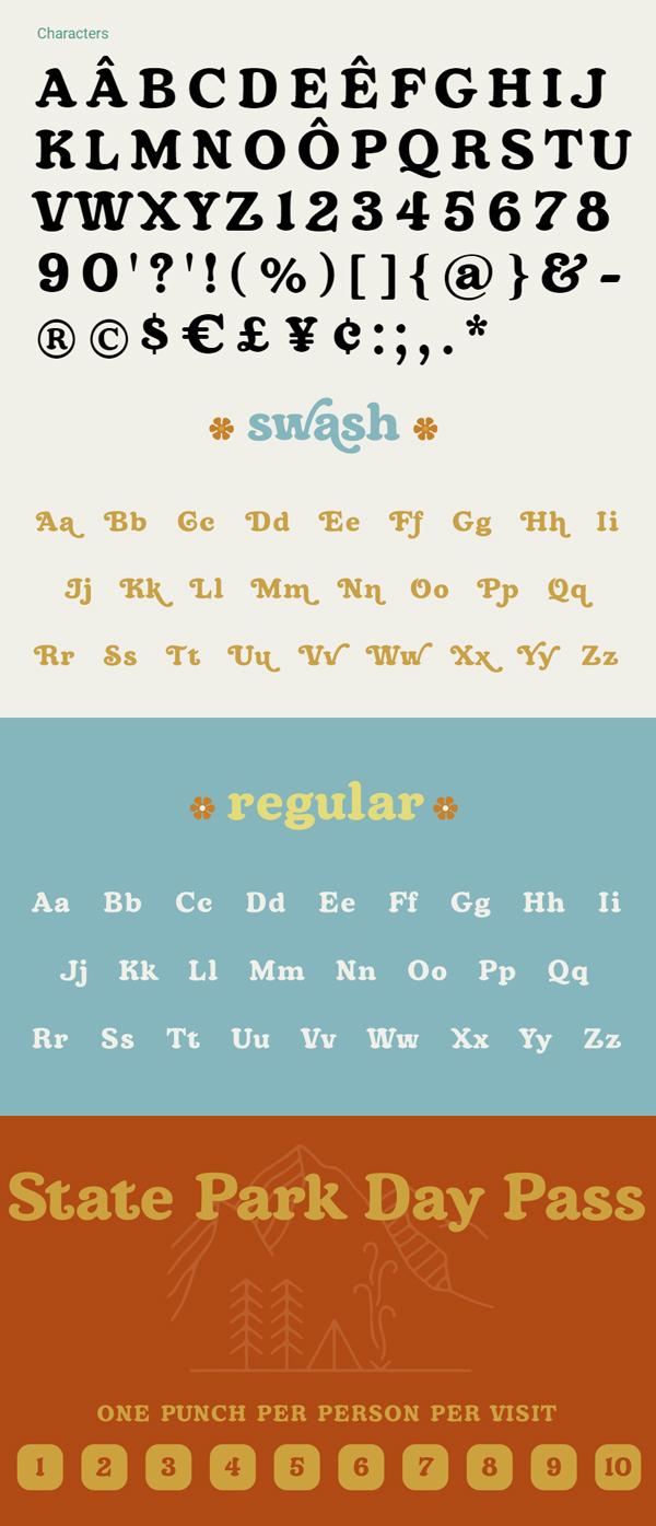 Topanga Font Letters