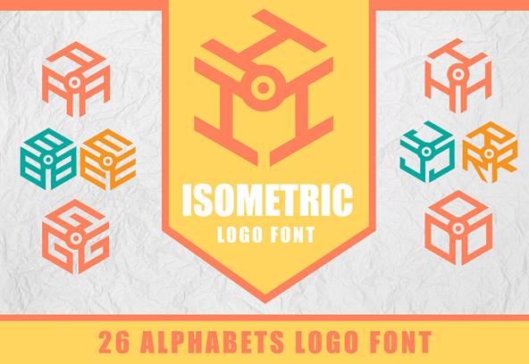 3D Isometric Logo Free Font