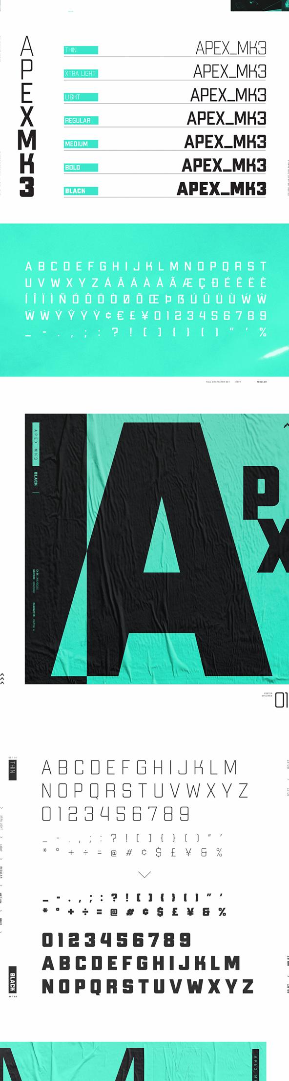 Apex Mk3 Font Letters