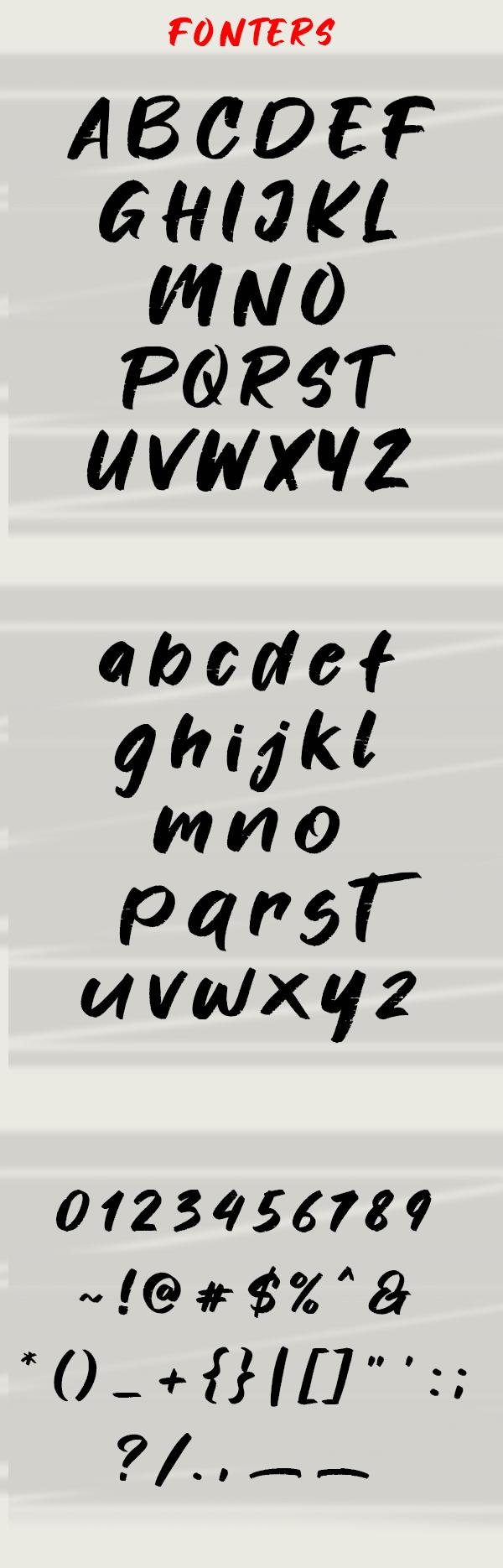 Fonters Font Letters
