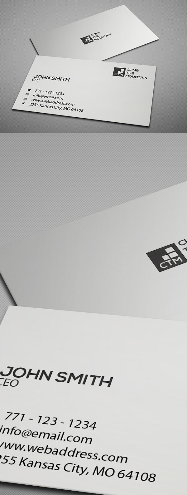 Freebie: Minimal Clean Business Card Template