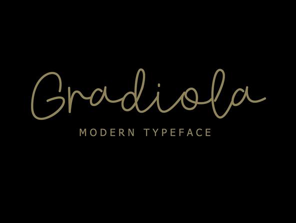 Gradiola Script Free Font