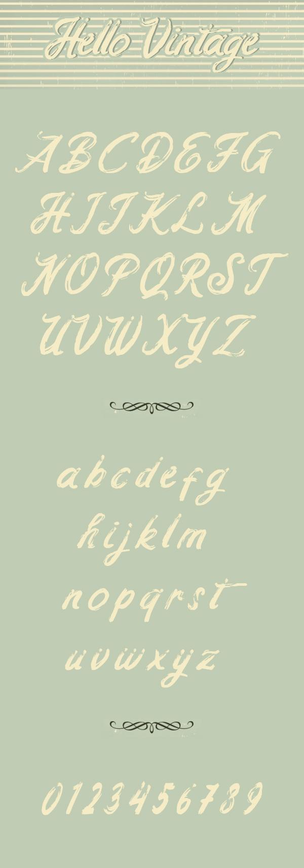 Hello Vintage Font Letters