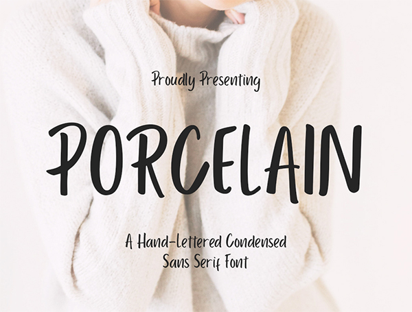Porcelain Condensed Sans Serif  Free Font