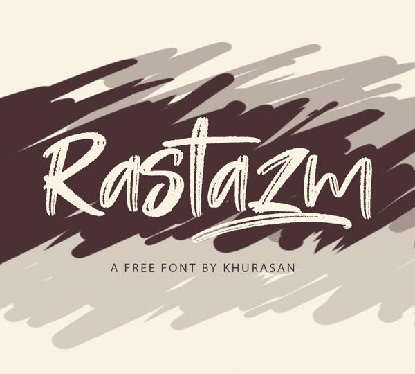 Rastazm Script Free Font - 50 Best Free Brush Fonts