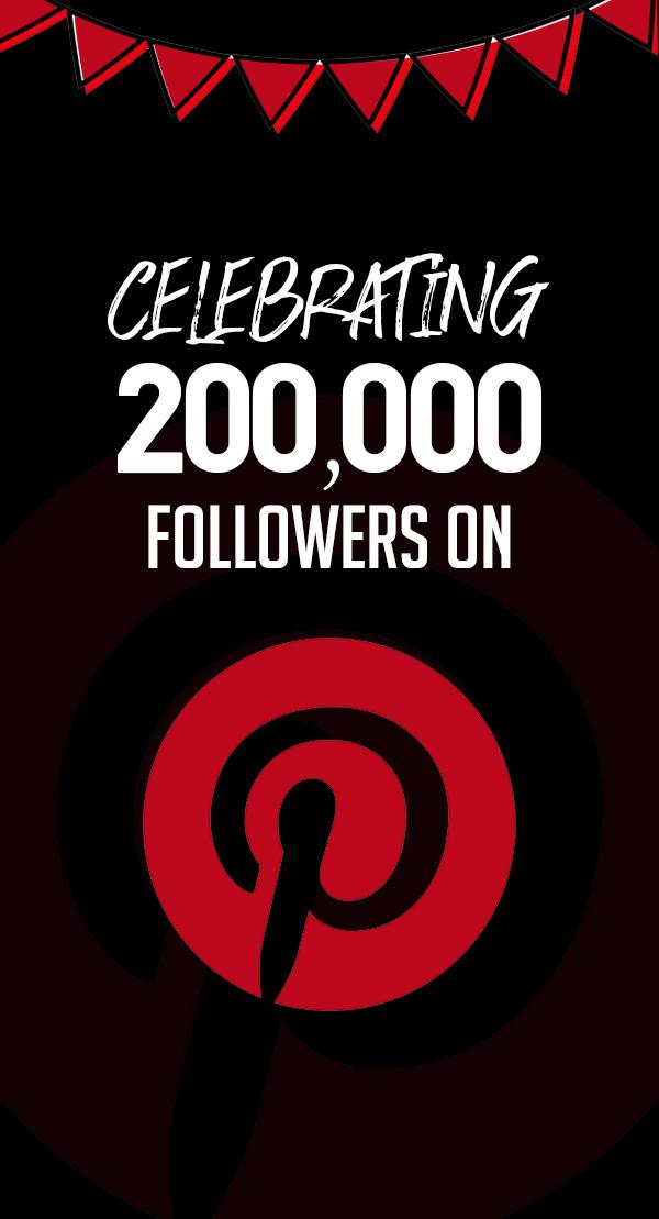 200k followers on Pinterest