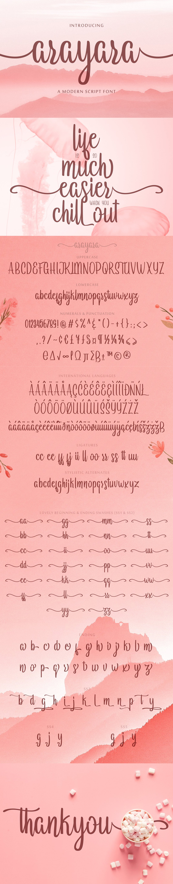 Arayara Script Font