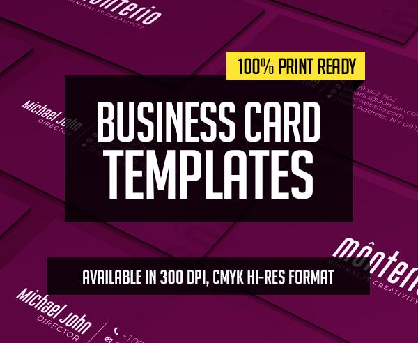 New Creative Business Card Templates – 28 Print Design