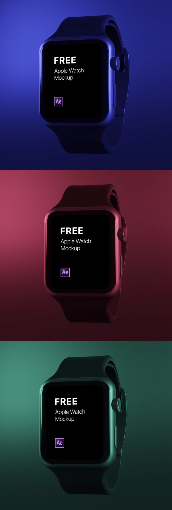Free Apple Watch Animated Mockup