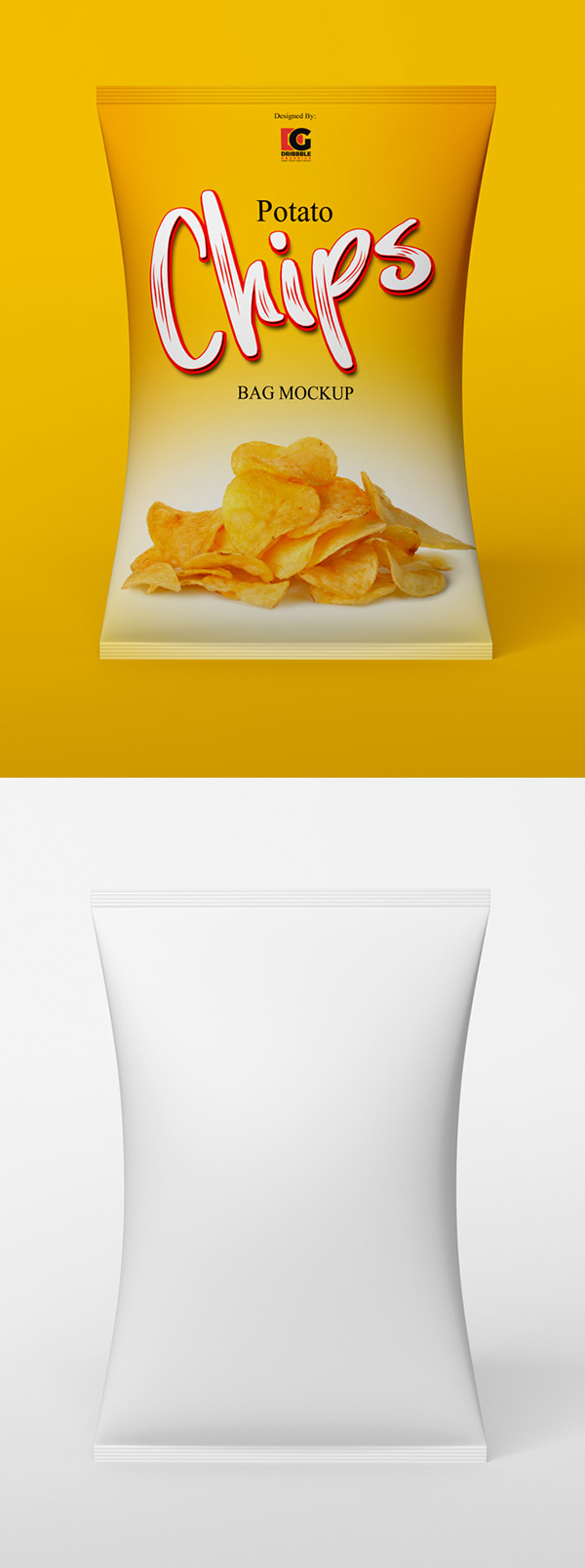 Free Chips Bag Mockup PSD Template