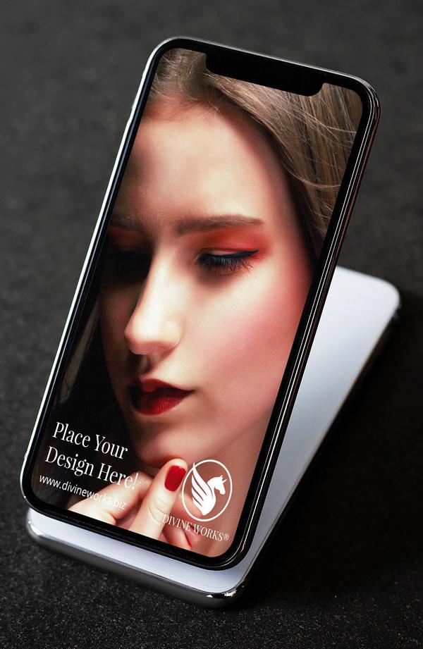 Free isometric iPhone XS Mockup