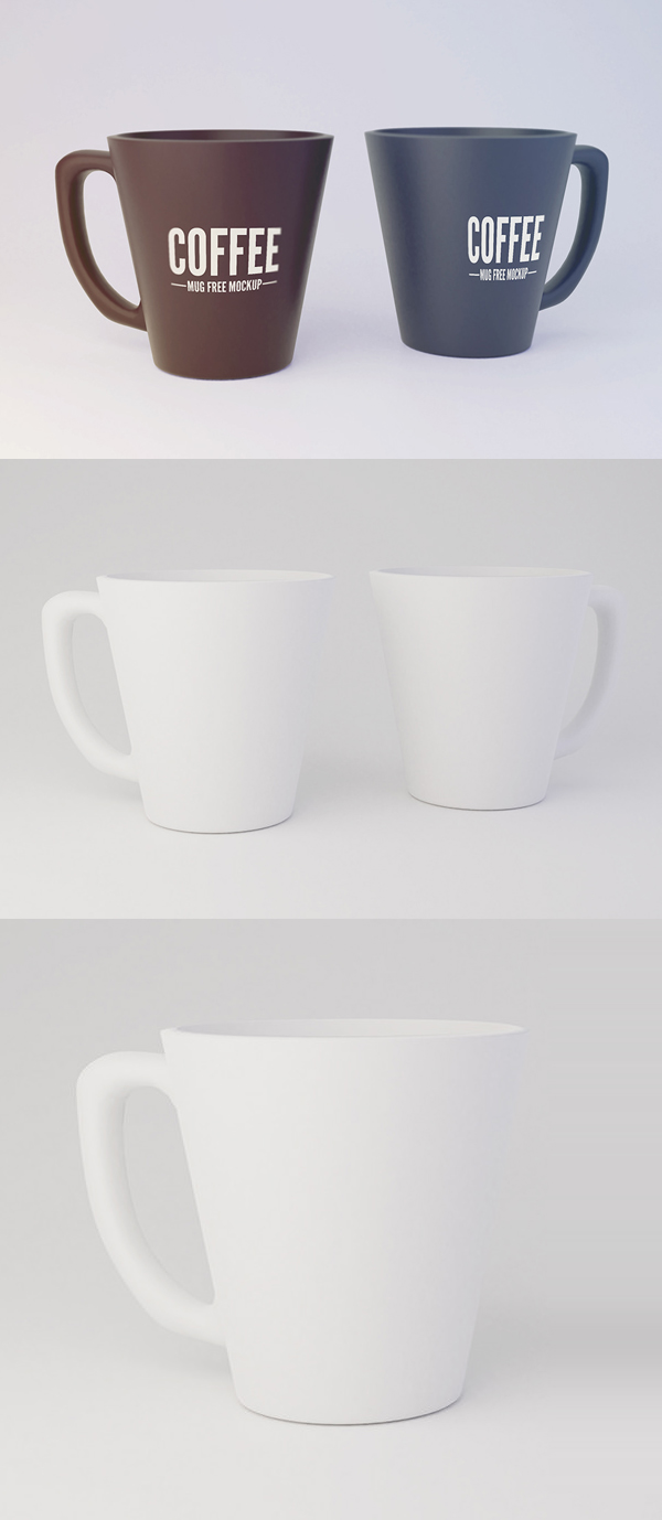 Free Mug Mockup PSD Template