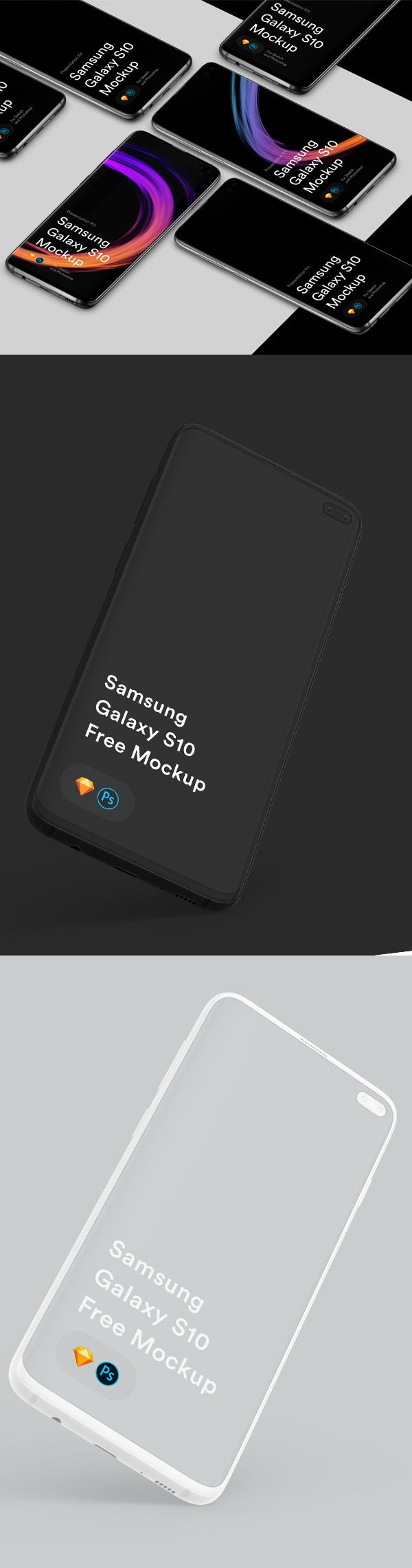Free Samsungs Galaxy 10+ Mockups