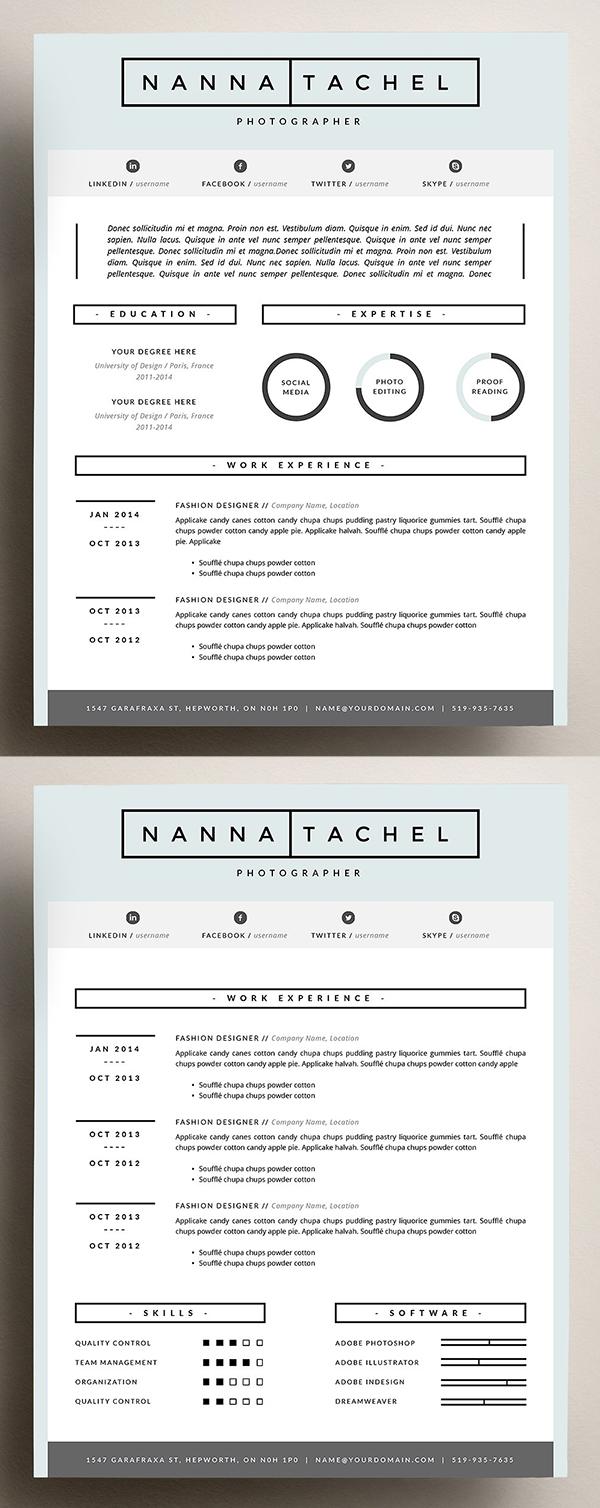 4 page CV Template   Resume Design