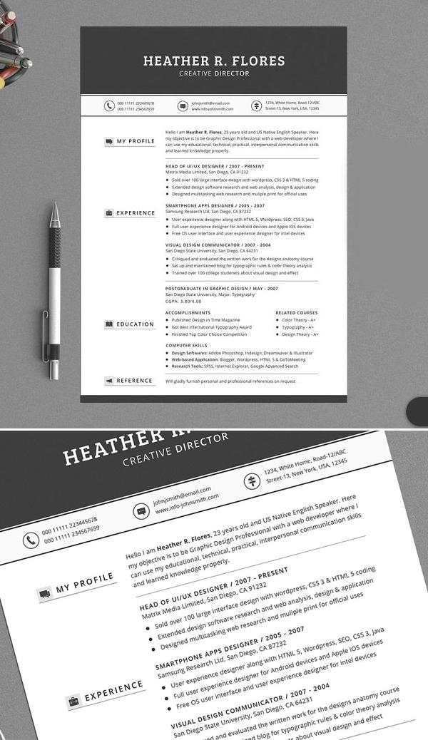 All in One Timeless Resume CV