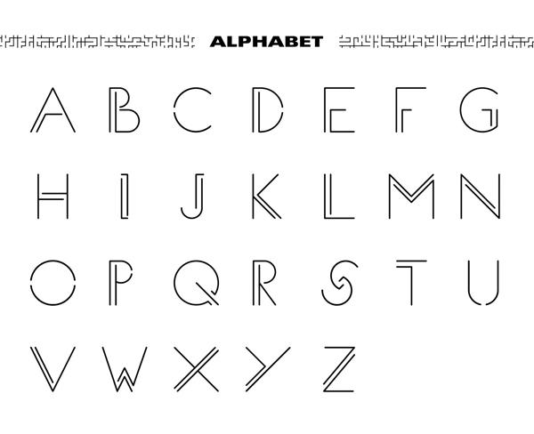 MAZE Font Letters