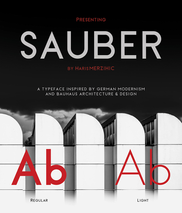 Sauber Free Font