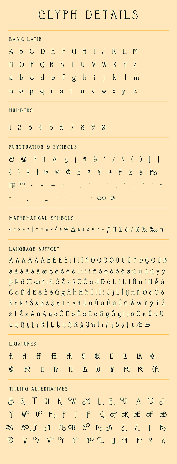 Sycamore Font Letters