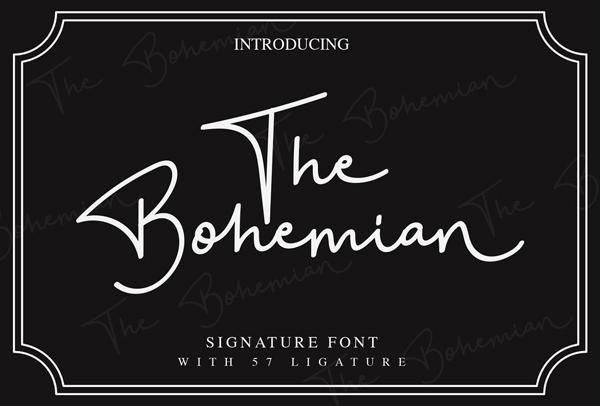 The Bohemian Signature  Free Font