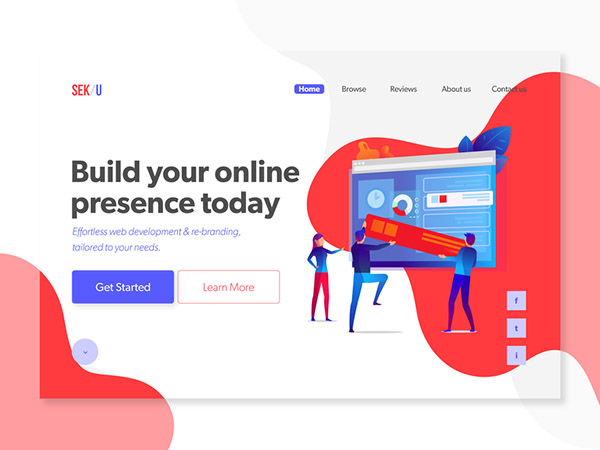 50 Modern Web UI Design Concepts with Amazing UX - 1
