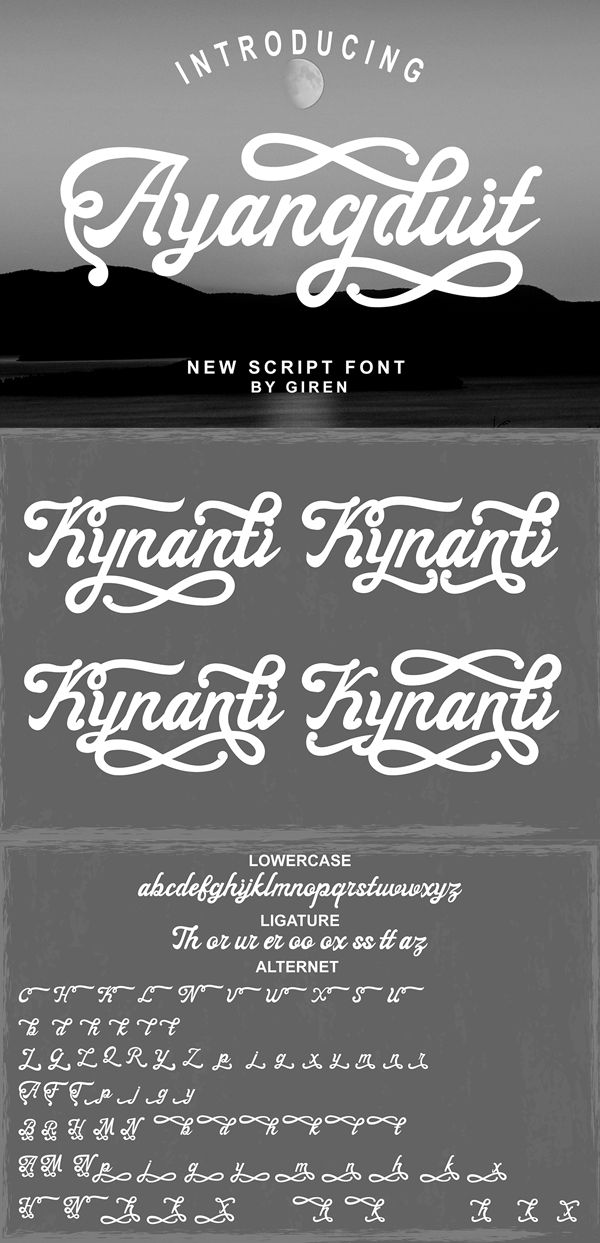 Ayangduit Script Free Font Design