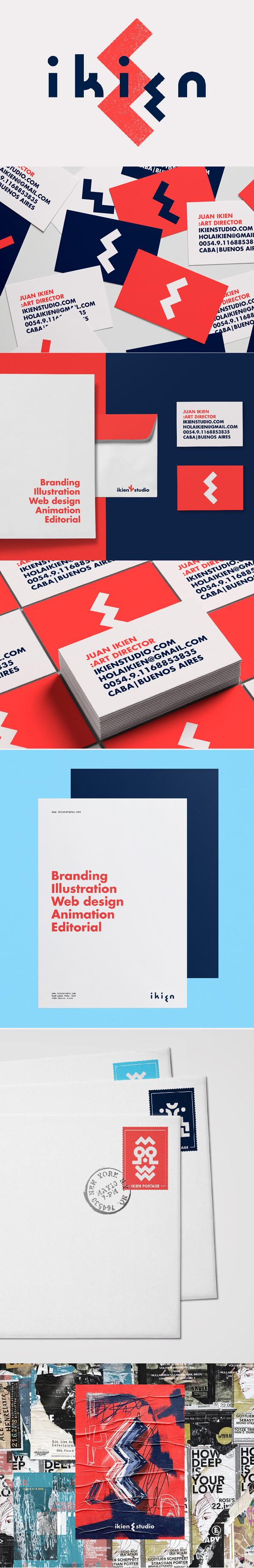 Branding: Ikien studio Branding by Lautaro Pesano