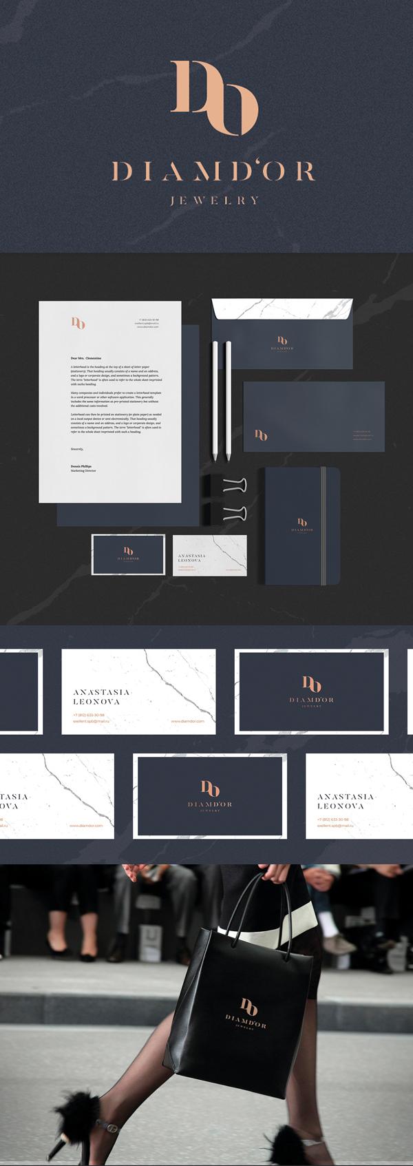 Branding: DIAMD'OR Jewelry Logotype & Branding by M axim Sitov