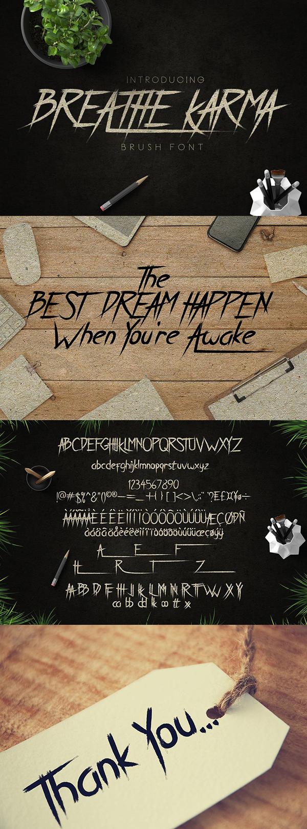 Breath Karma Free Font - 50 Best Free Brush Fonts