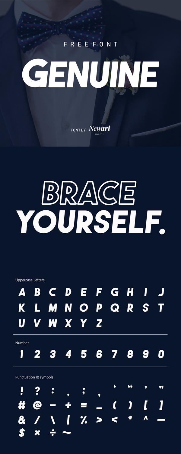 Genuine Type Free Font