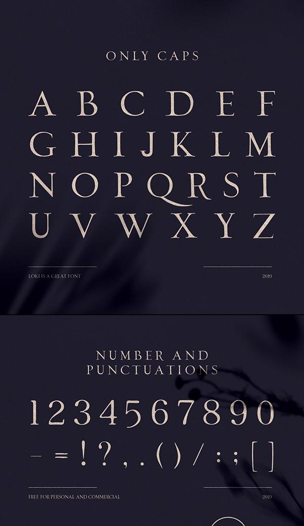 Loki Sans Serif Script Font Letters